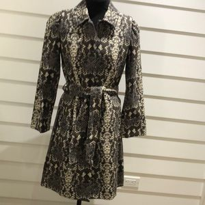 NWT Marc Jacobs reptile-print cotton trench size S